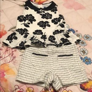 Janie and jack little girls peplum top and shorts